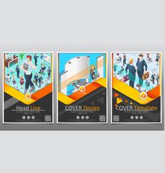 Business template set brochure layout modern vector
