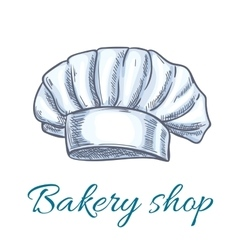 Chef hat cap or toque sketch for bakery design vector
