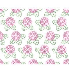 clover flower contour pattern vector image