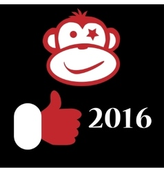 Concepts Symbol New Year Monkey 2016 vector image vector image