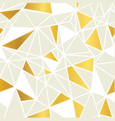 Cream and gold foil geometric mosaic vector