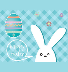 Easter holiday - rabbit and easter egg vector