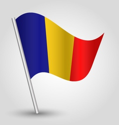 flag romania vector image vector image