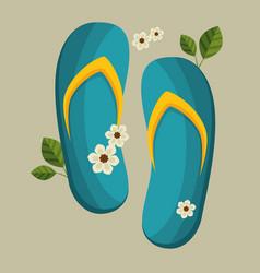 Flip flops spa icon vector