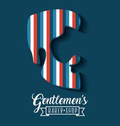 Gentleman barber shop vector