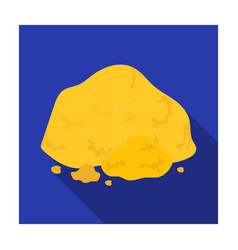 Golden ore icon in flat style isolated on white vector