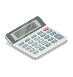 Grey isometric calculator vector