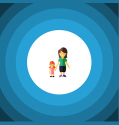 Isolated gril flat icon mother element can vector