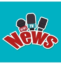 microphone news icon isolated vector image