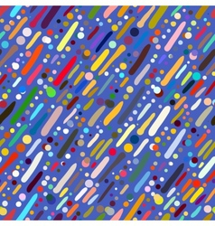 Pattern with hand drawn colourful stripes vector