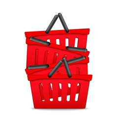Red Shopping Baskets vector image vector image