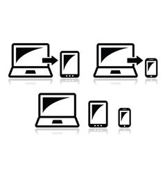 Responsive design - laptop tablet smarthone icon vector image vector image