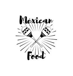 restaurant mexican couisine menu promo maracas vector image vector image