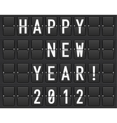 scoreboard happy new year vector image