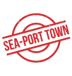 Sea-port town rubber stamp vector