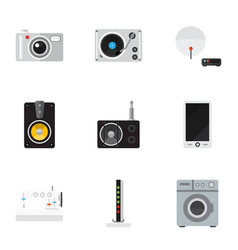 Set of 9 editable tech icons includes symbols vector