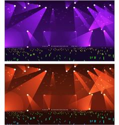 Set of empty stage rock concert vector