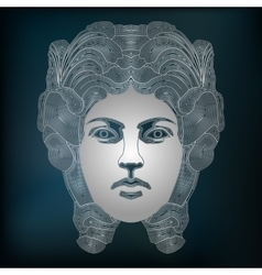 Silver woman portrait zodiac virgo sign vector