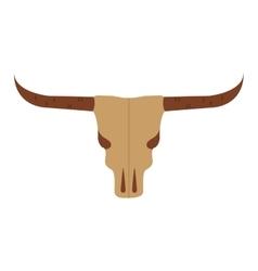 Skull cow wild west icon vector