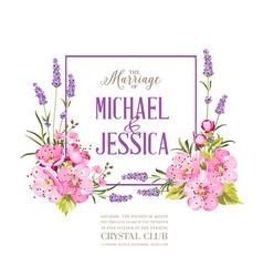 the wedding invitation vector image
