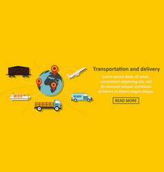 transportation and delivery banner horizontal vector image