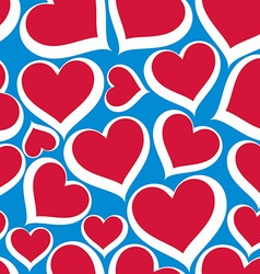 Valentine's day conceptual heart background vector
