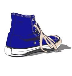 BLUE SHOE vector image