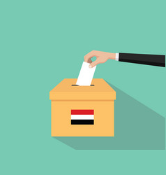 Yemen vote election concept with vector