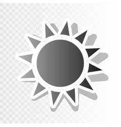 Sun sign   new year blackish vector