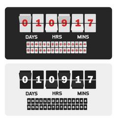 Event presentation sale timer number counter vector