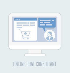 Online chat consultant - website assistance hints vector