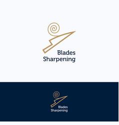 Sharpening service logo vector