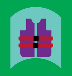Flat icon design collection life vest vector