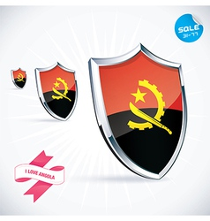I love angola flag vector