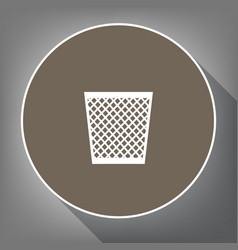 Trash sign   white icon on vector