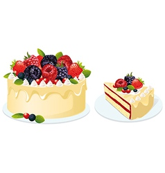 Fruit cake vector