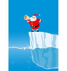 Santa on iceberg vector