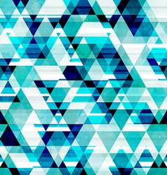Crystal triangle seamless pattern vector