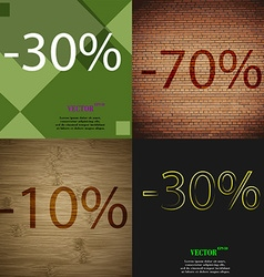 70 10 30 icon set of percent discount on abstract vector