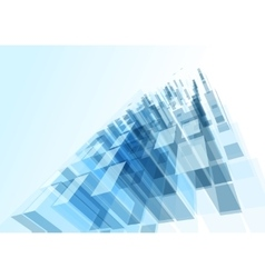 Modern blue glass wall of office building vector