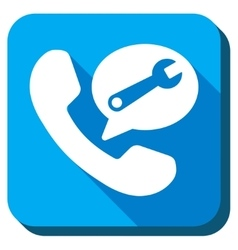 Telephone service message icon vector