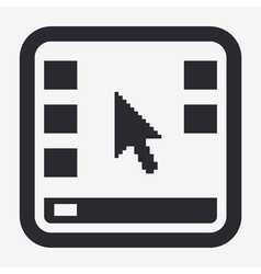 Desktop icon vector