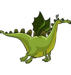 flying green dragon vector image