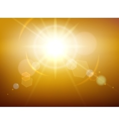 Yellow glow sunshine vector