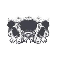 Abstract dotwork grunge horror skull vector