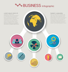 Abstract flat business infographic concept vector