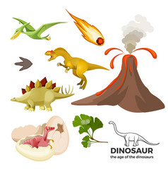 Age of dinosaurs banner with prehistoric predators vector
