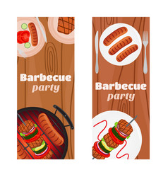 barbecue party flyers invitation banner vector image vector image