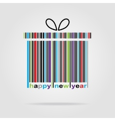 Barcode happy new year and merry christmas vector