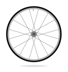 bike wheel - on white backgrou vector image vector image